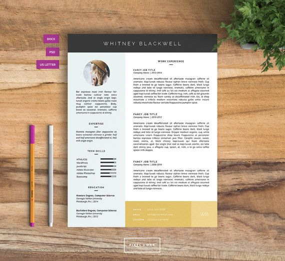 Resume Template Resume Design Cover Letter Template Word