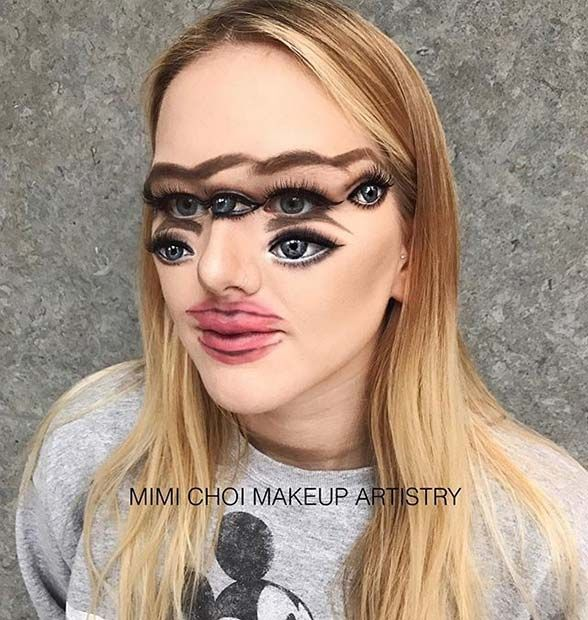 Woman Gives Up Teaching To Create Optical Illusions With Makeup And It S Messing With Our Minds Horror Makeup Halloween Makeup Makeup