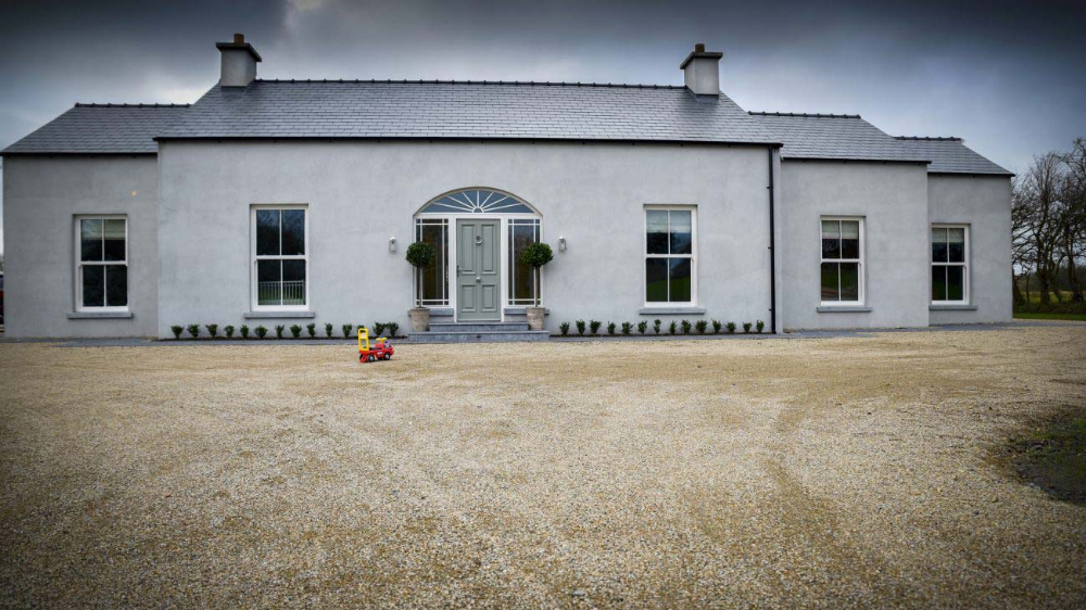 Bungalow On The Outskirts Of Ballina Town Cottage House Exterior Bungalow Exterior House Designs Ireland