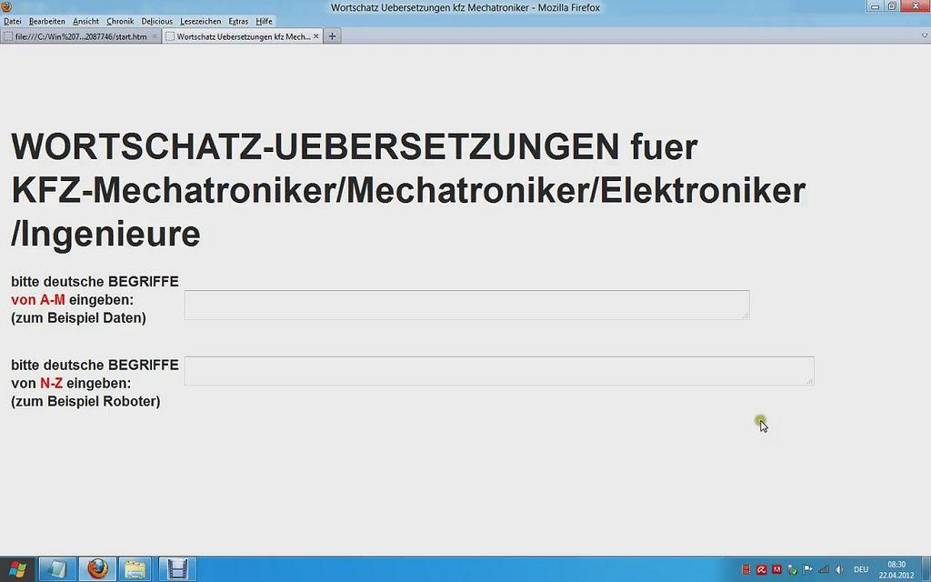 German English Dictionary Automotive Electrical Engineering Technisches Woerterbuch Video Zu Deutsch Englisch Wortschatz Mechatroniker Kindle Reader Chart Readers