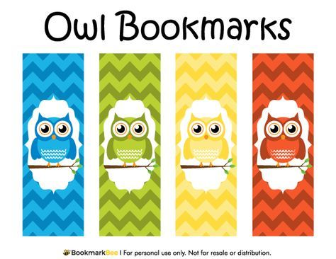 Free Printable Owl Bookmarks Download The Pdf Template At Http