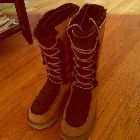 Tall Uptown Chestnut Ugg Boots Size 9 My Posh Picks Pinterest