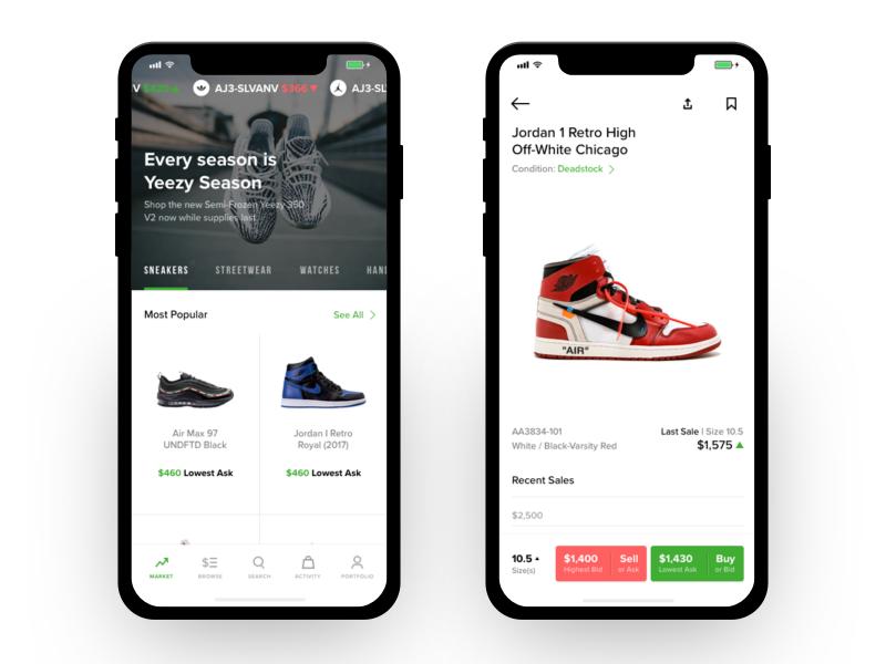 Homescreen & Product Profile   Homescreen, Mobile app ui and User ...