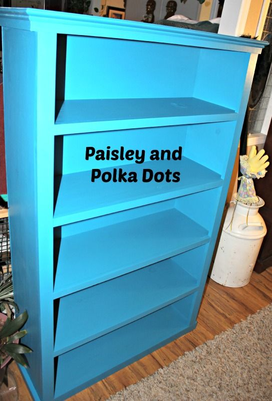 Bookcase Painted for a Playroom.. bright and playful!   https://www.facebook.com/southernpaisleysnpolkadots