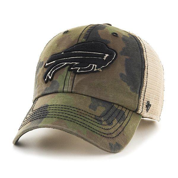888aa4ddf64 Buffalo Bills 47 Brand Green Howitzer Camo Burnett Mesh Adjustable Hat –  Sporting Up