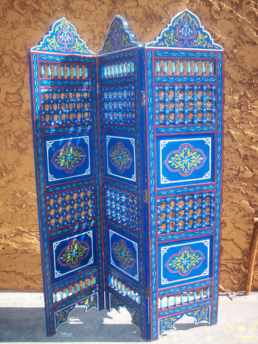 MOROCCAN ROOM DIVIDER SCREEN wood seperated divider Girls Rm