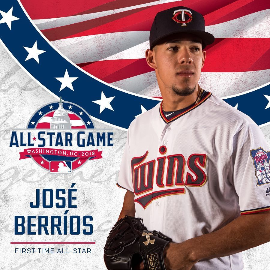 Congratulations Jose Berrios On Being Named To The Mlb All Star Game See You In Washington D C Mntwins All Star Minnesota Twins Washington