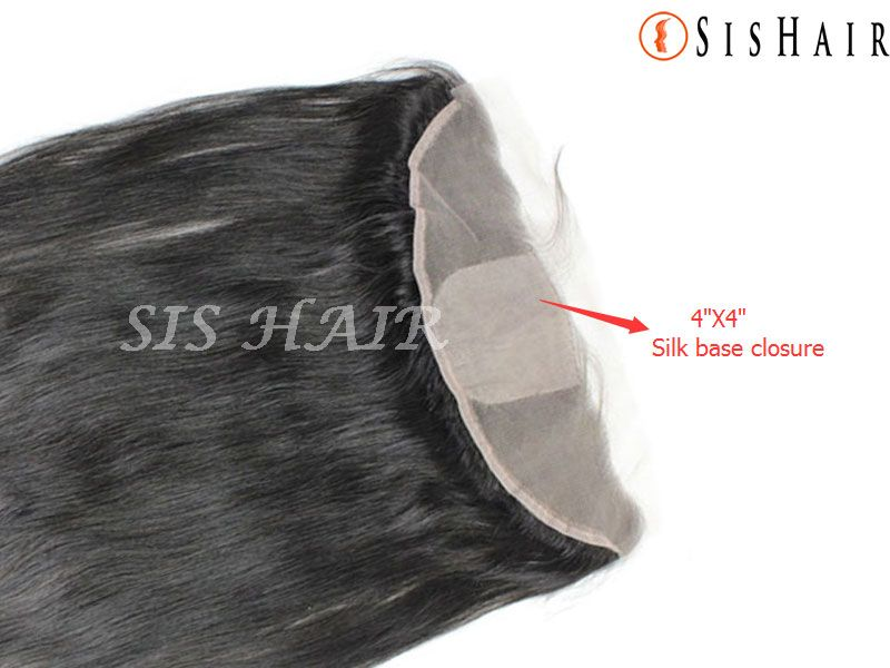 "Brazilian Virgin Hair 13*4"" Silk Base Lace Frontal Closure Silky Straight Wavy (3)"