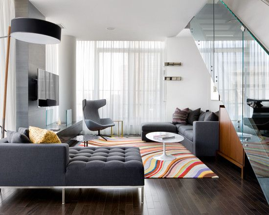 Missoni Chevron Modern interiors Living room ideas and Room ideas