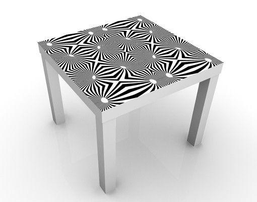 Beistelltisch abstraktes schwarz wei design tisch for Tisch graphic design
