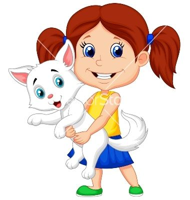 Cute Little Girl Characters Google Search Happy Cartoon Animal Illustration Kids Animal Pictures For Kids