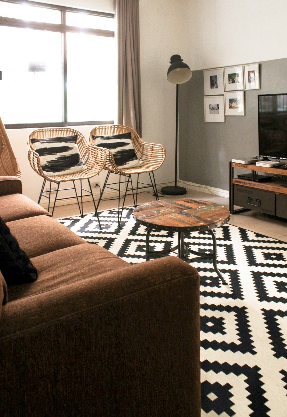 Black White With Wicker Furniture Family Room Wickerfurniture Rattan Ikea Hm Brown Living Room Decor Black And Cream Living Room White Carpet Living Room Black white and brown living room