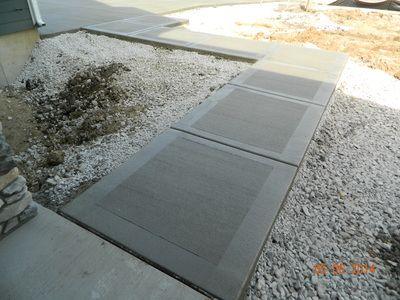 Picture Frame On Concrete Sidewalk Building A House Concrete