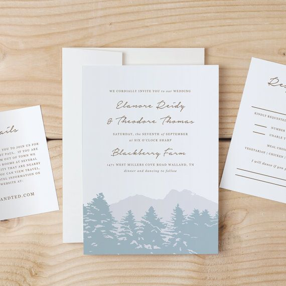 instant download printable wedding invitation template smoky