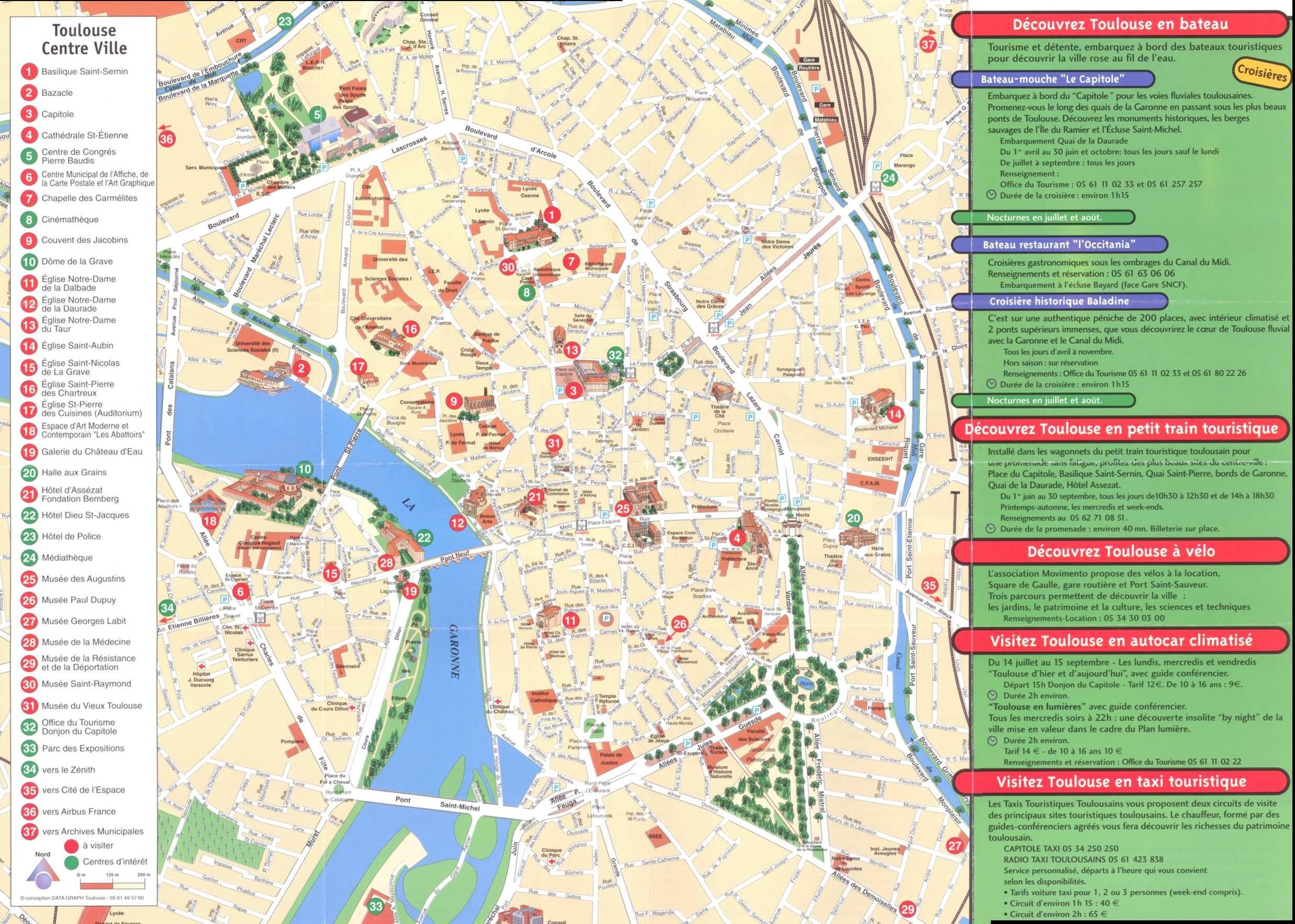 Mapa Turistico De Toulouse.Toulouse Plan De La Ciudad Mapas Imprimidos De Toulouse Francia Con Posibilidad De Descargar Toulouse Guia Turistico Turistico