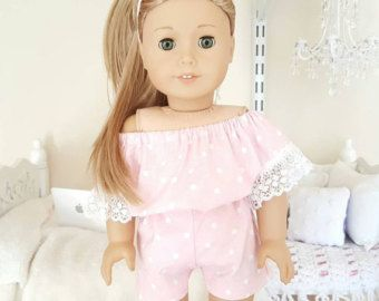 18 inch doll pink romper