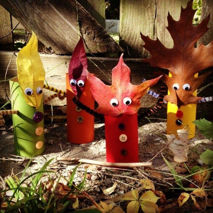 Herbstbasteln Mit Kindern Herbstdeko Selber Machen Basteln Klopapierrollen Wesen