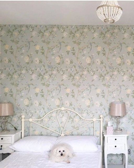 (£18) Laura Ashley   Summer Palace Eau De Nil Floral Wallpaper