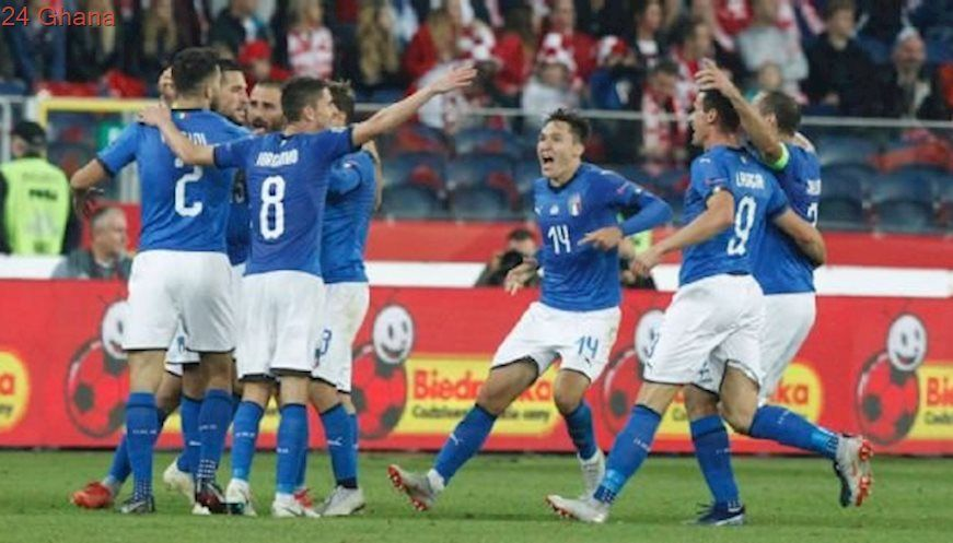 Italy Score Last Gasp Goal To Relegate Poland From Nations League Group League Soccer Team Sports