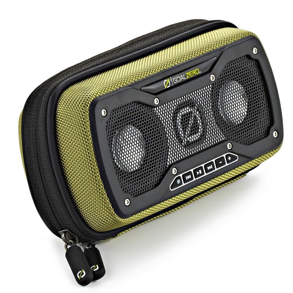Rugged Solar Speaker Bluetooth Goal Zero Rock Out 2 With Dark Base With Images Bluetooth Speakers Speaker