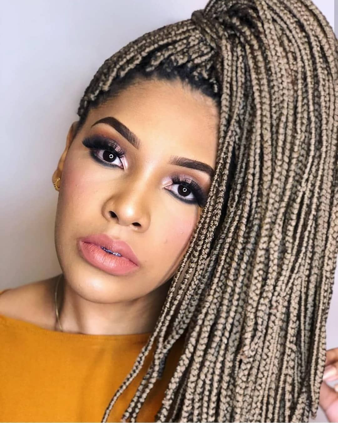 Pin On Box Braids Hairstyles For African American Women