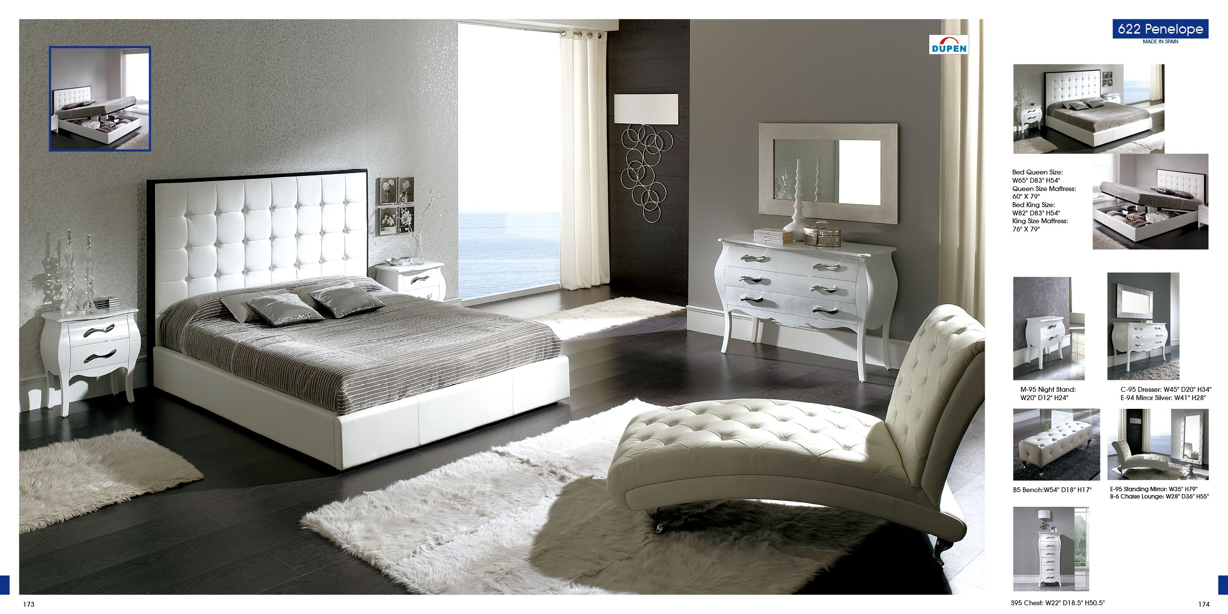Best Bedroom Furniture Modern Bedrooms 622 Penelope White M95 C95 E95 B5 Bedrooms Pinterest 400 x 300