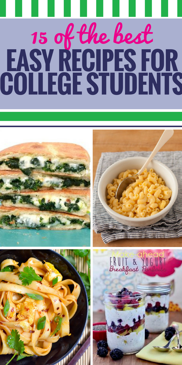 15 Easy Recipes for College Students -   13 healthy recipes For One easy ideas