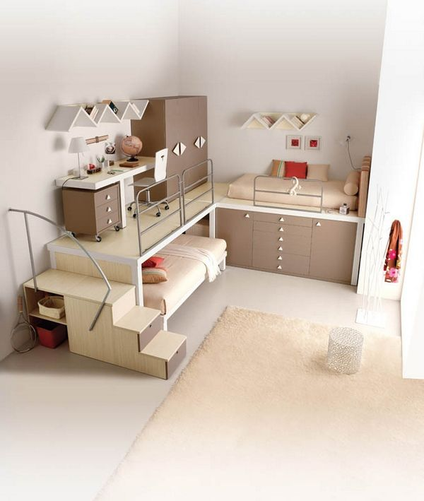 Space Saving Kids Rooms Cool Bunk Beds Awesome Bedrooms Small Room Design