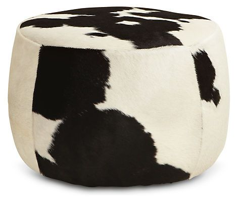 A versatile accent piece, our Lind ottoman can work as a cocktail table, extra seating or a comfy spot to rest your feet. Lind stays put with stationary legs, or rolls around your space with ease when you attach the included carpet casters. Each cowhide displays unique variations in pattern and color. No two are alike, ensuring that your ottoman is one of a kind.
