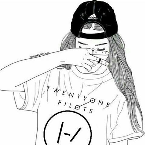 Outline twenty one pilots (psa I love this and credit to owner)~k ... ed93a9c561e