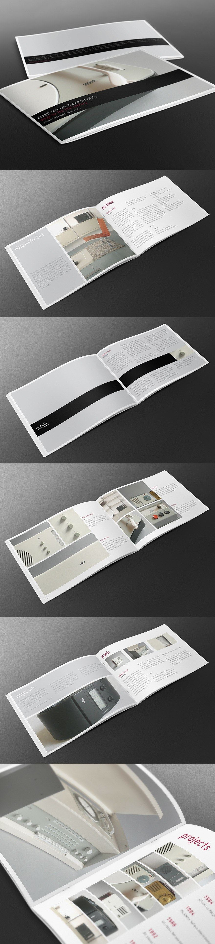 Elegant Brochure Template Landscape Graphic Layout Pinterest