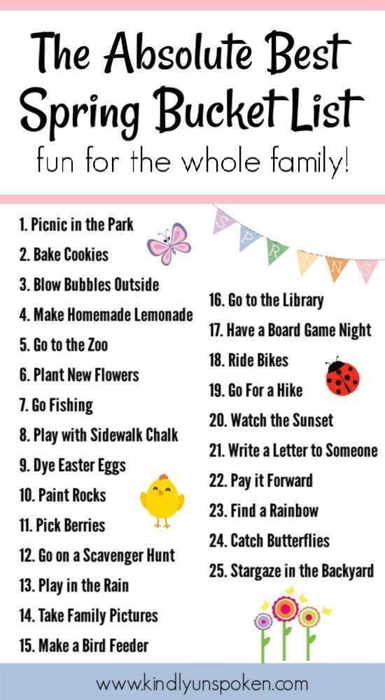 Check out my spring bucket list with 25 fun activities for kids and families to do this spring. This free spring bucket list printable includes ideas …