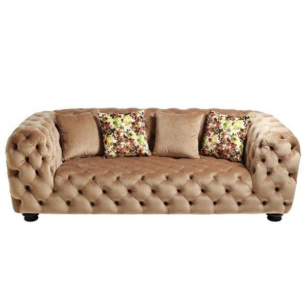 sofá chester terciopelo marrón   Tiendas On   Catálogo muebles 2017 ...