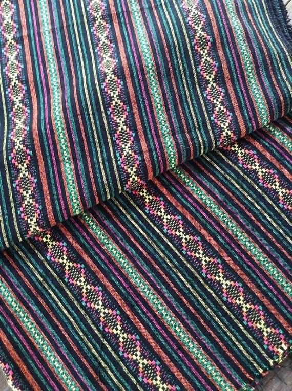 Tribal Fabric Striped Fabric Ethnic Fabric Native Fabric Boho Bohemian Style by Yard.