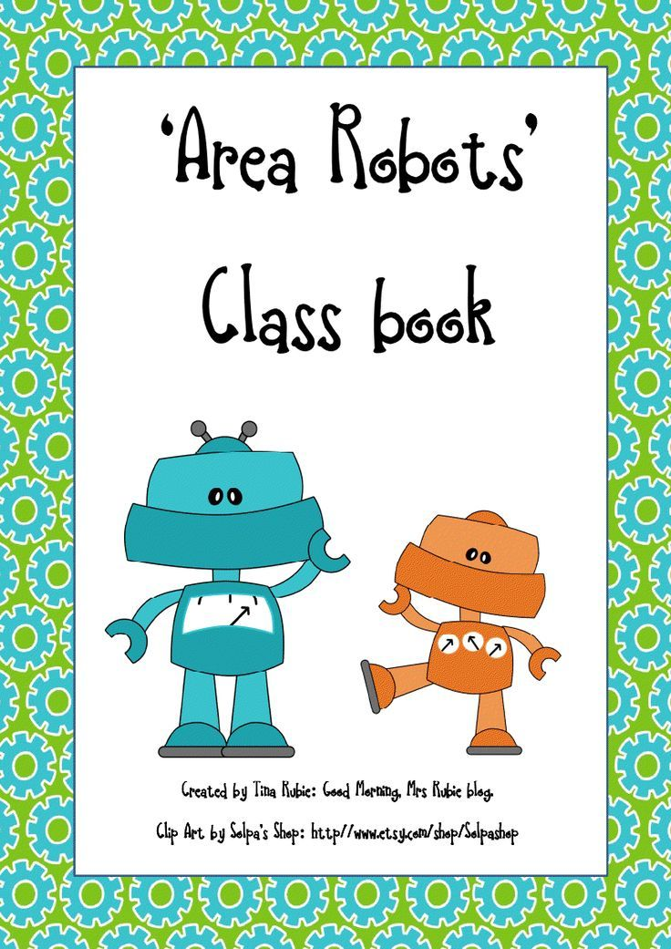 Freebie \'Area Robot\' maths worksheet and class book cover ...