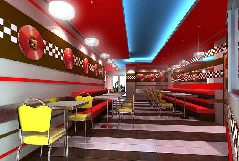 american burgers restaurant interiors restaurant design american restaurant tahiti design projects store design coffee store fast foods - Fast Food Store Design