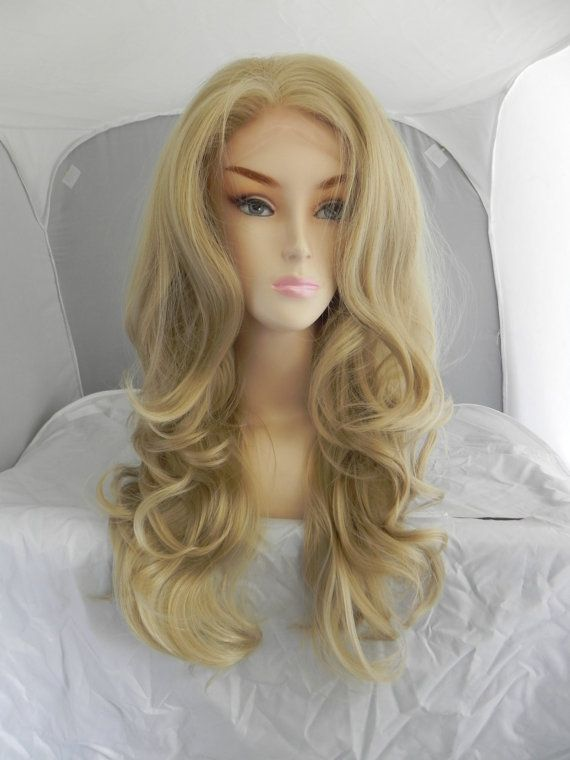 Lace Front Wig Honey Blonde Long Wavy Natural Wig By Exandoh Lace Front Wigs Beautiful Wigs Honey Blonde