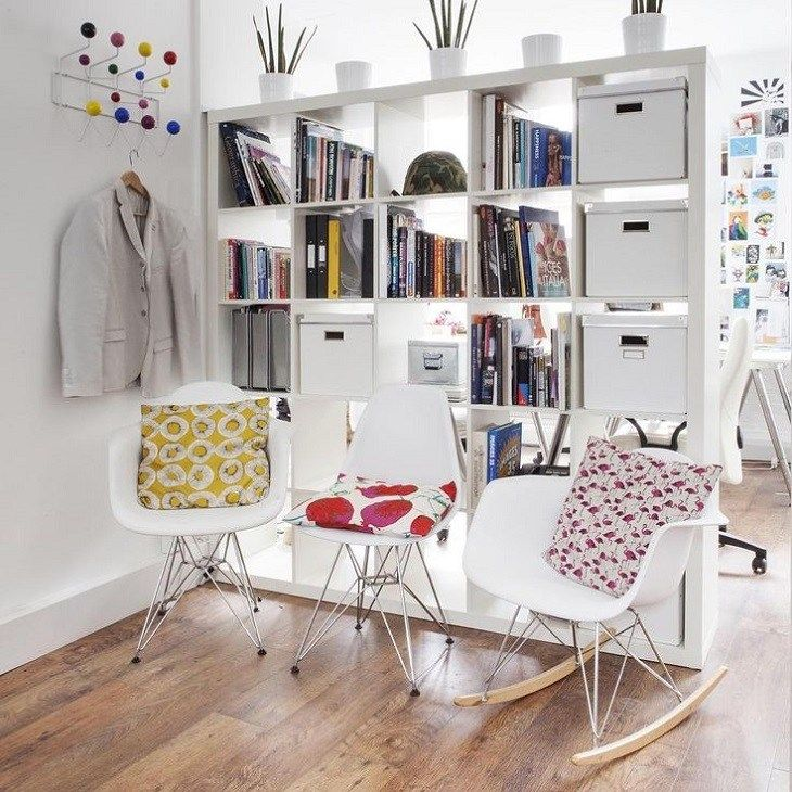 10 Ways To Divide Space In Your Studio Apartment: #8. IKEA Expedit Shelf