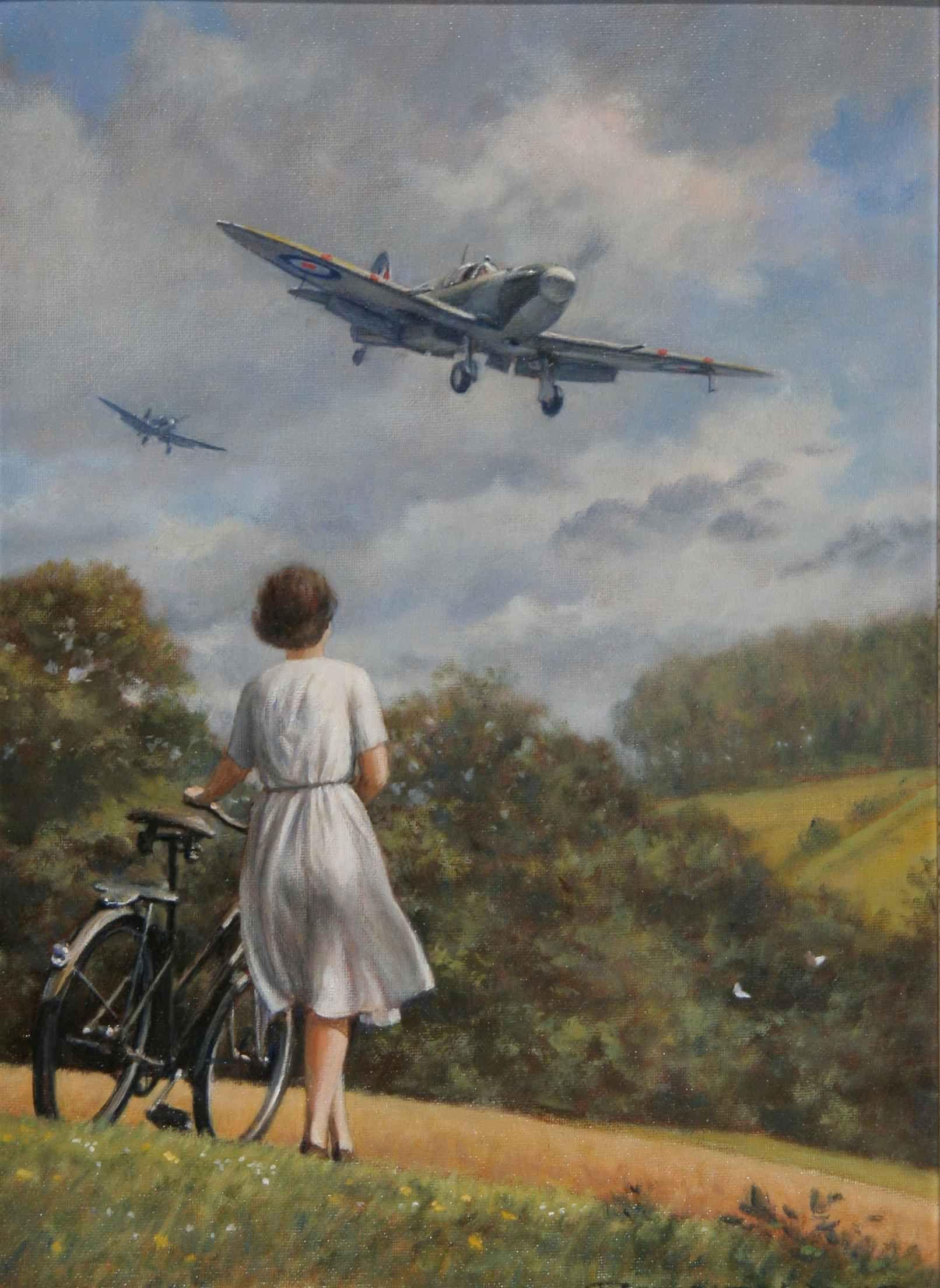 Обои war, painting, aviation, ww2, aircraft, air combat, P 47 thunderbolt, drawing, dogfight. Авиация foto 18