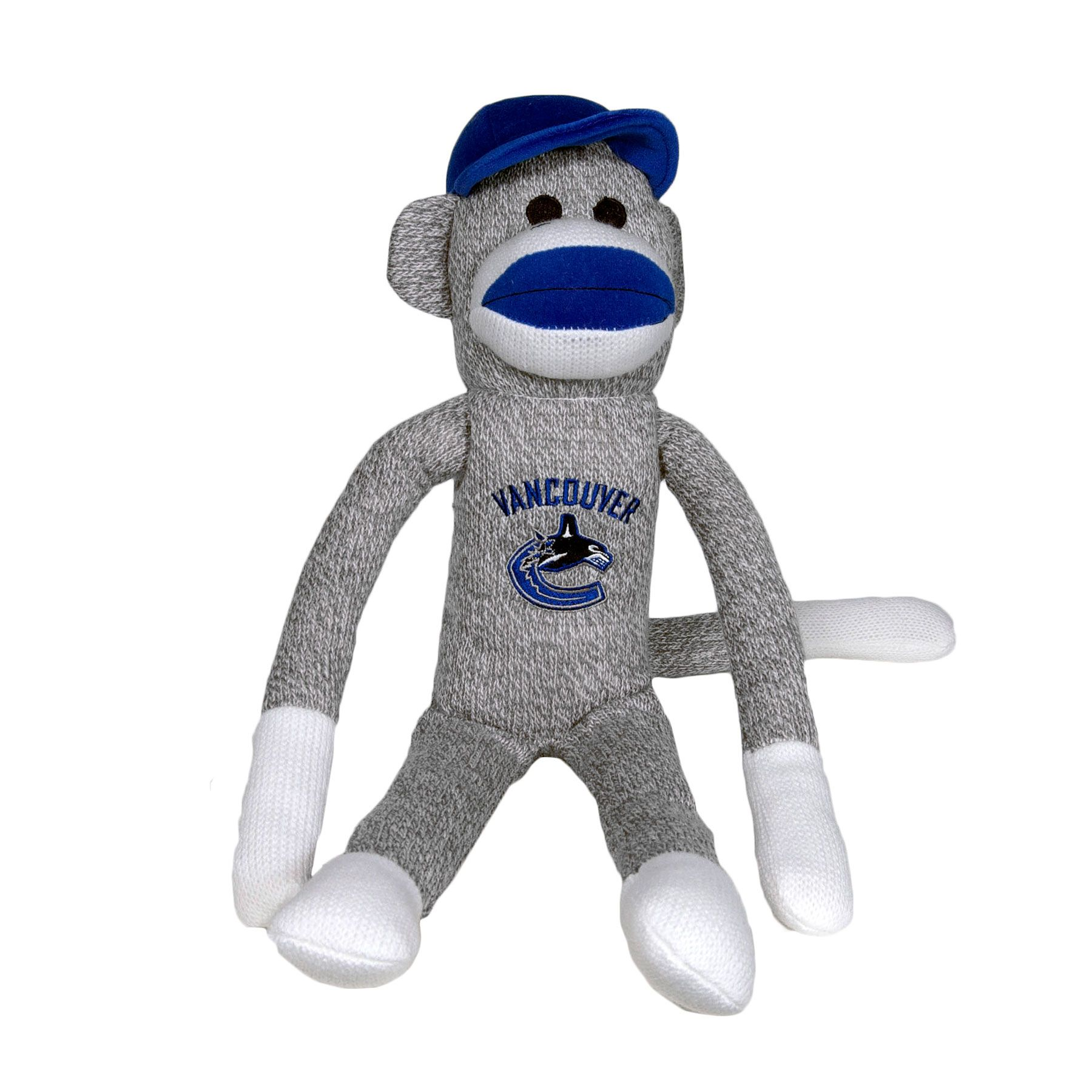 Vancouver Canucks 27 Inch Plush Sock Monkey Icejerseys Com Canada Official Fan Shop Canucks Vancouver Canucks Sock Monkey