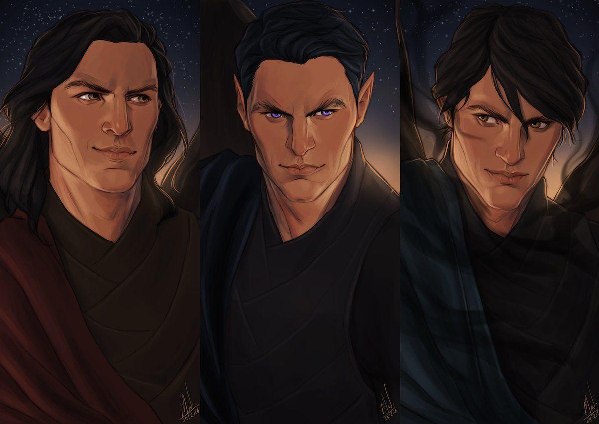 Cassian, Rhysand and Azriel by Coralie Jubenot