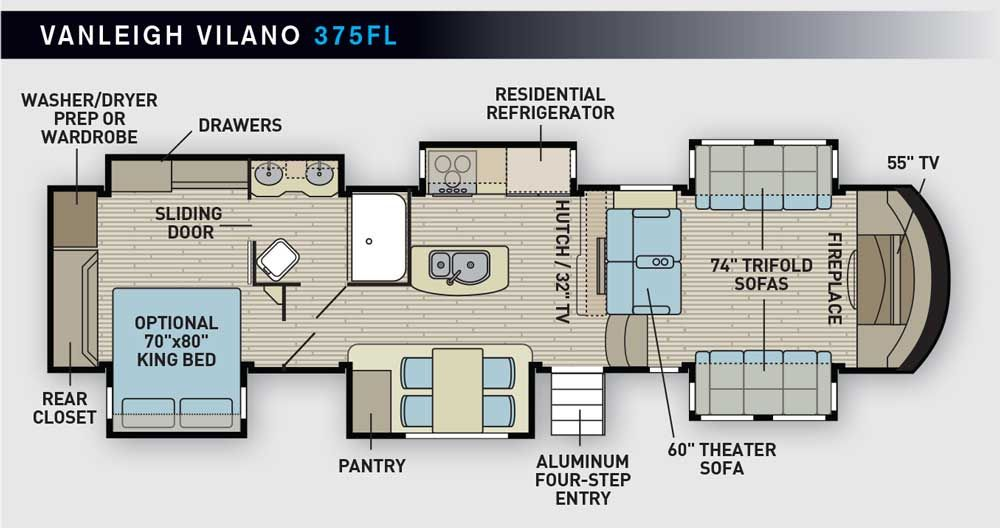 Vanleigh Vilano Fifth Wheel Rv Floor Plans Floor Plans Fifth