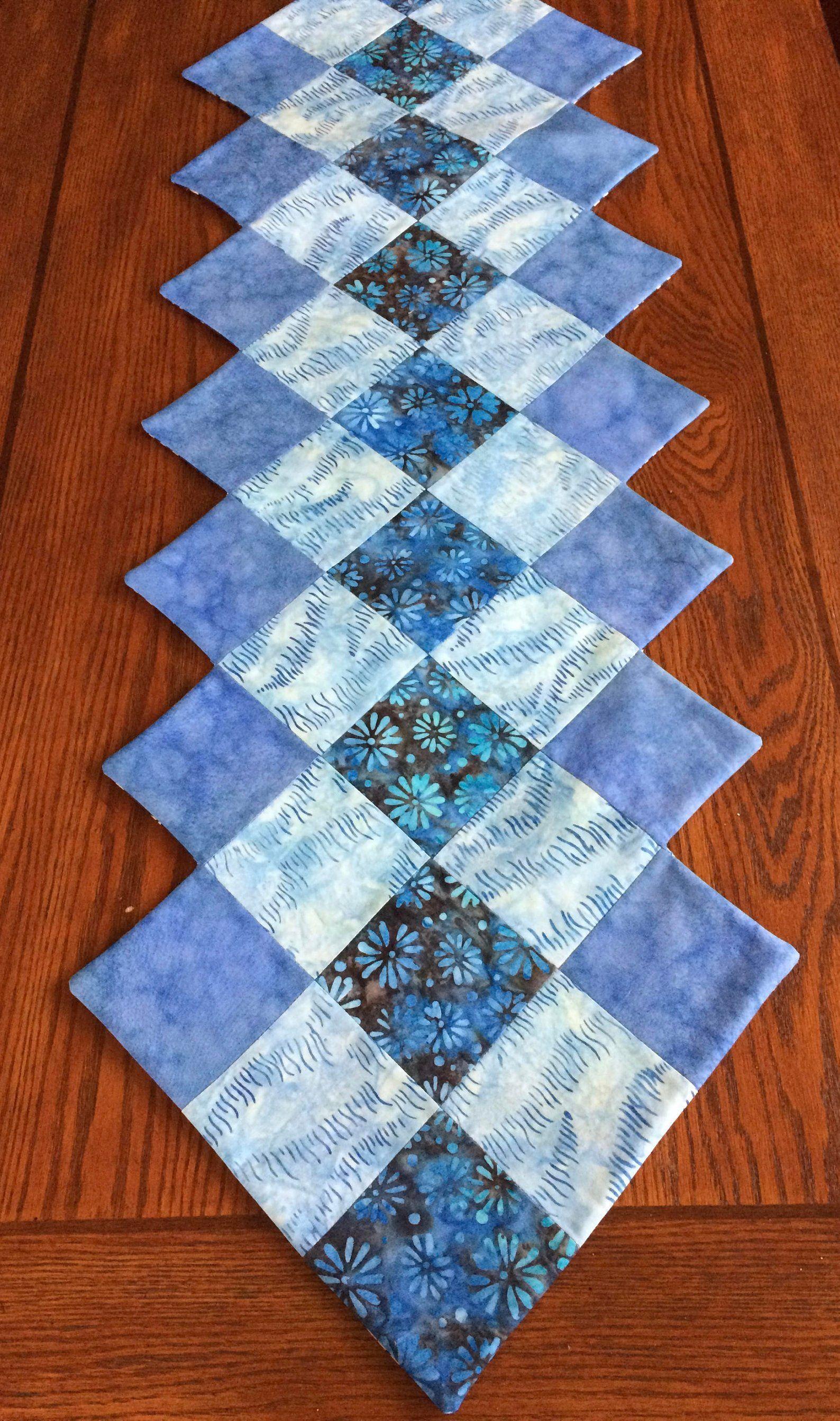 Phenomenal Blue Batik Table Runner Batik Table Runner Handmade Download Free Architecture Designs Xaembritishbridgeorg
