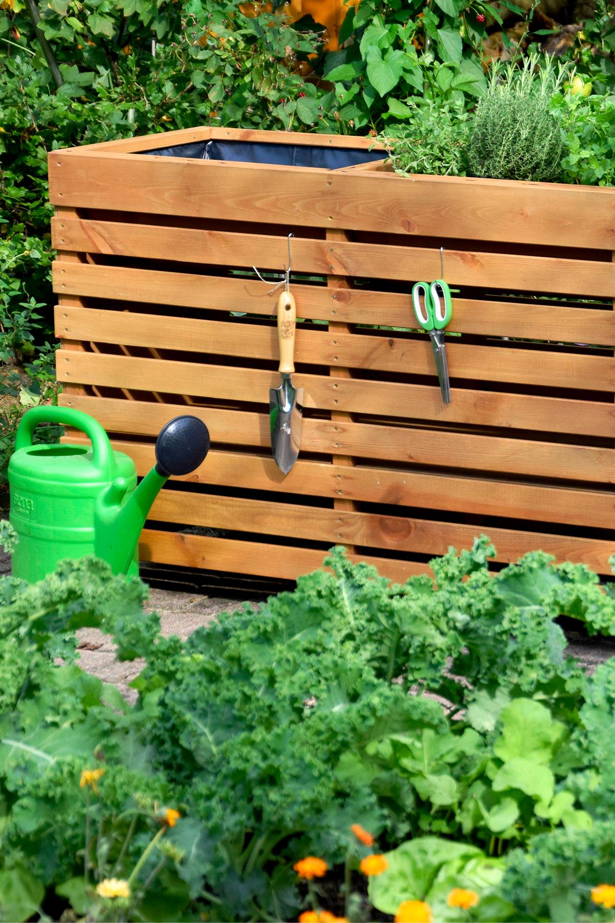Dobar Hochbeet Rolling Garden 115 X 45 X 75 Cm Nutzflache 0 52 M Kiefer Bernstein In 2020 Hochbeet Gartendesign Ideen Gemuse Pflanzen