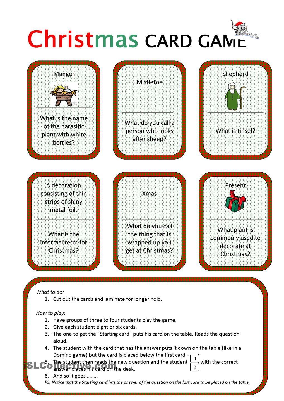 Christmas Lesson Plans For Esl Kids Teachers Christmas Card Crafts Christmas Crafts Simple Christmas Cards