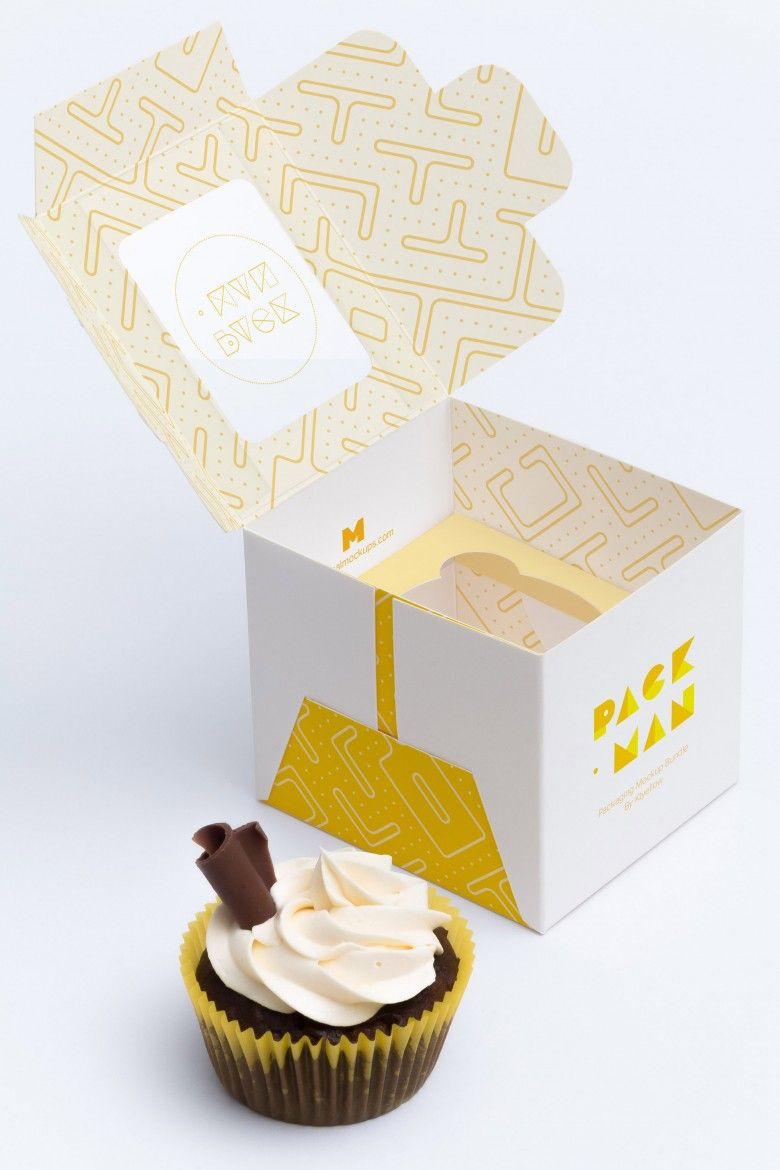 Download Photorealistic Cupcake Box Mockup On A White Background Packaging Box Mock Up Confectionery Mock Up Packaging M Box Mockup Branding Shop Branding Mockups