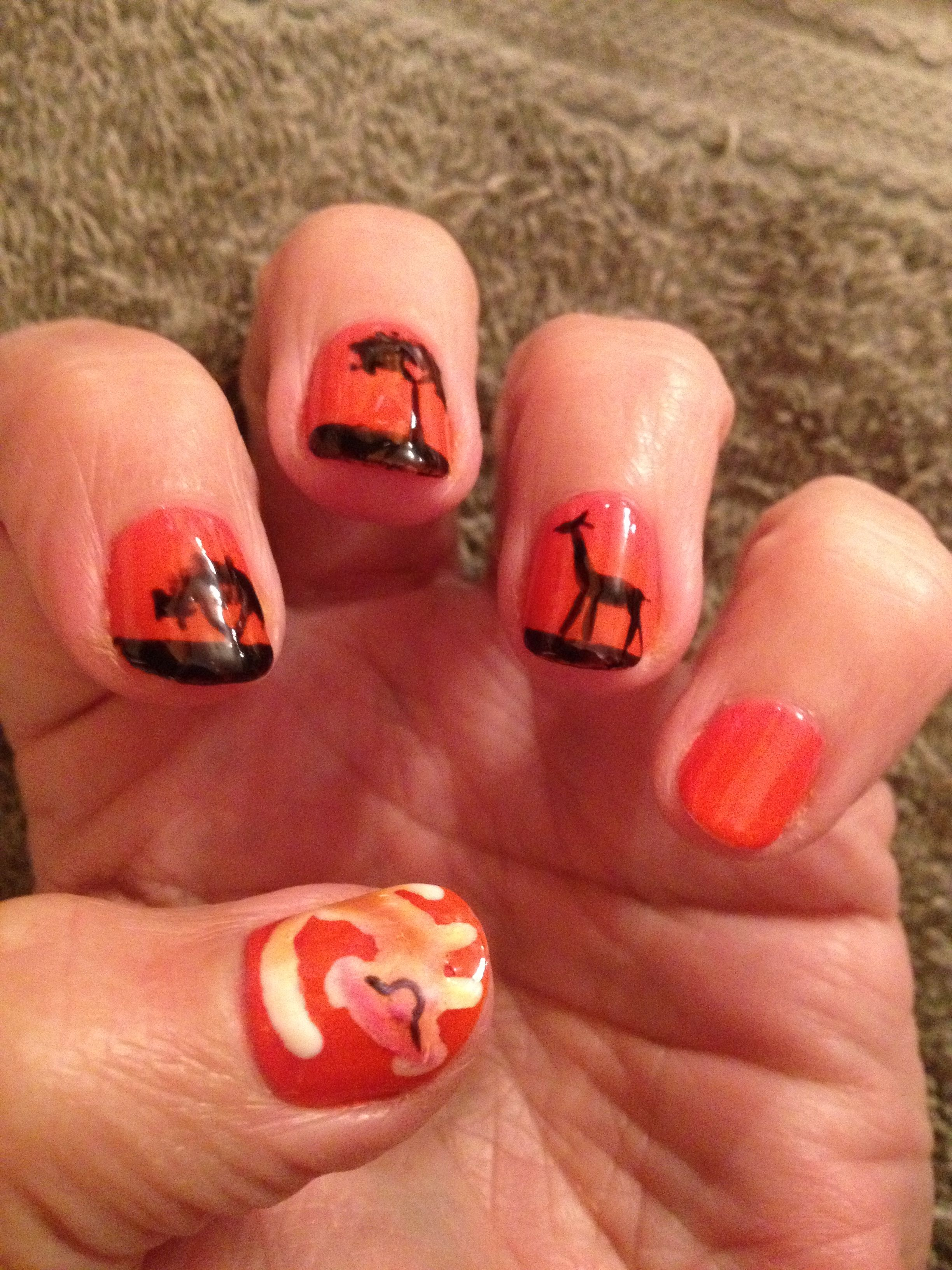 My new Lion King nails . Isn\'t Simba cute! | All things Disney ...