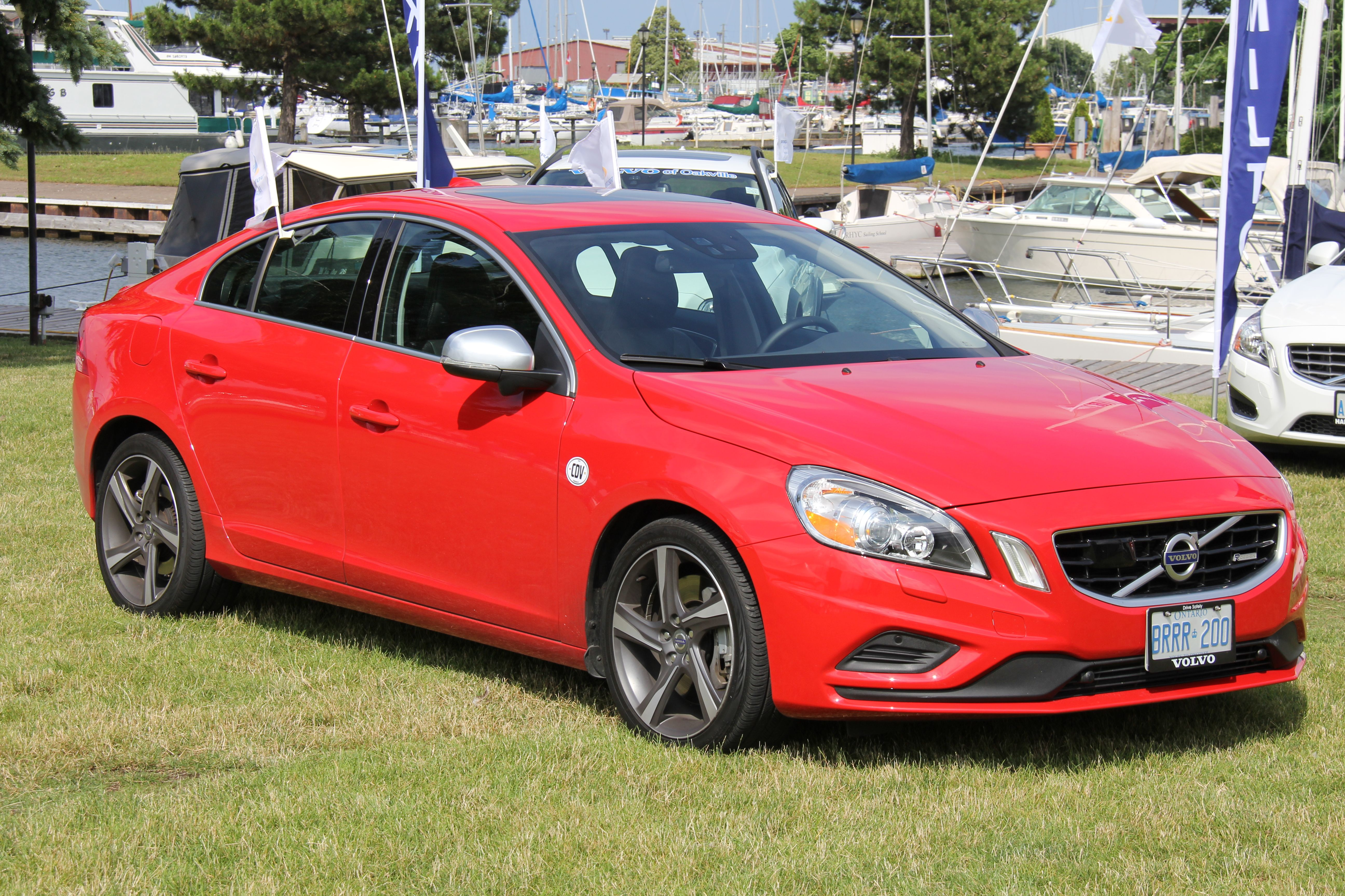 The passion red 2013 volvo s60 t6 r design was a definite crowd pleaser