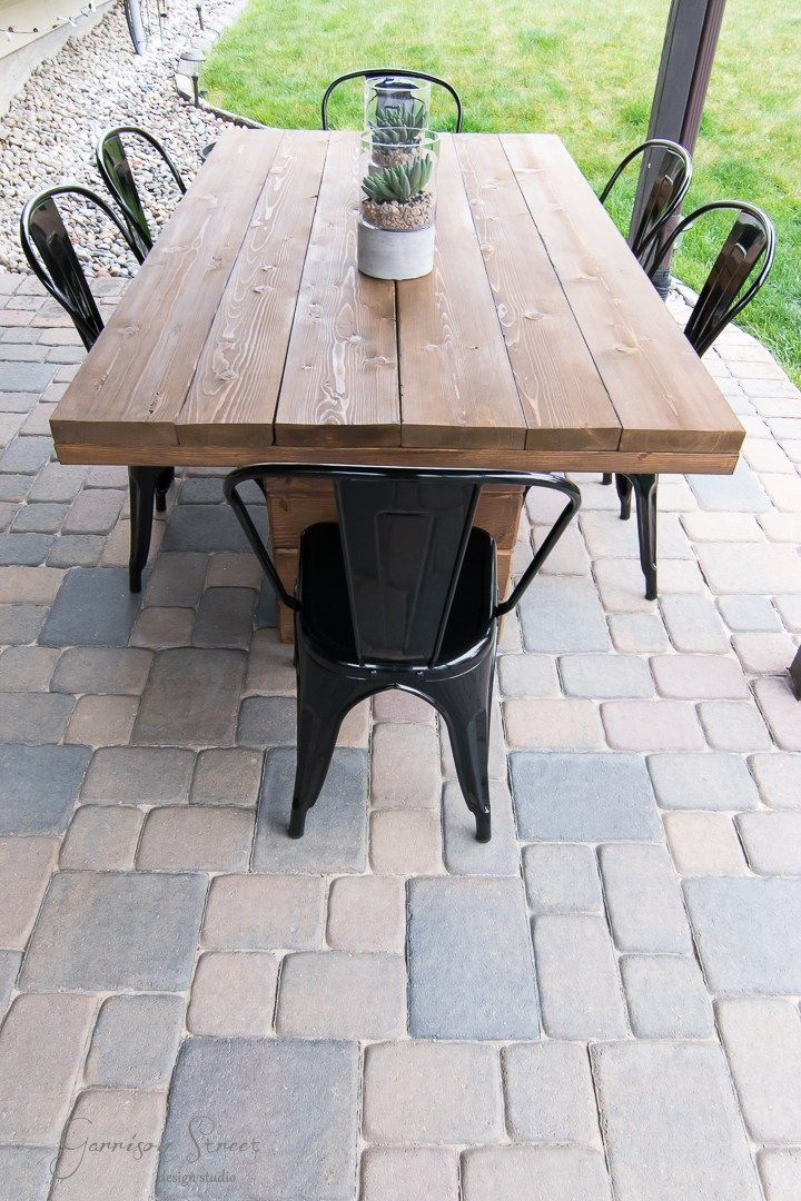 Diy Outdoor Dining Table Rustic Patio Diy Outdoor 400 x 300
