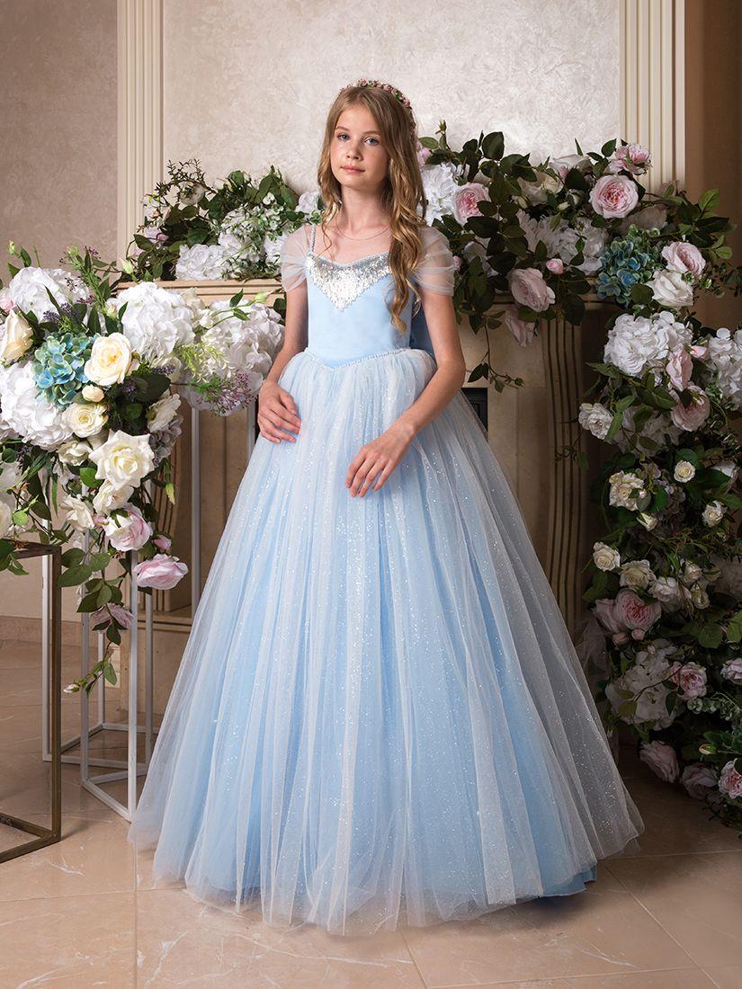 Light blue flower girl dress in 2020 flower girl dresses